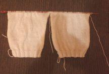 Calça de tricô para bebê