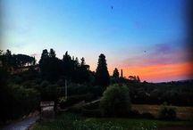 Pôr de sol na Toscana