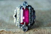 Vintage ruby jewellery