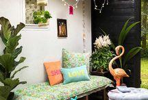 Wohnen im Garten Inspiration ❤️ / Wohnen im Garten, Sommer, Frühling, Inspiration, Ideen, kreativ und gemütlich.