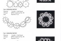Tatting / Frivolitky / Inspirace a návody, náhresy na frivolitkové šperky