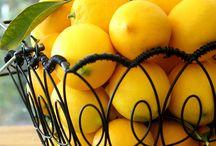 Lemon cake & drinks lemon