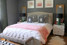 the bedroom / chic but cozy place to unwind and spend our weekends