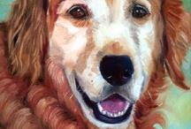 Golden Retriever Art / My original art of the gorgeous Golden Retriever dog.