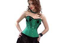 Hand Embroidery Flowral beading On Green Satin Overbust Corset / Description for  CQ- 475 Hand Embroidery Flowral beading On Green Satin Authentic Steel Boned Overbust Corset 1  Hand Embroidery  Authentic Steel Boned Overbust Corset ; perfect  for Medium &  long torso female   2  Front length; 14 inches (35.5 cm)  3  Bust to Bottom Length ; 15.5 inches (38 cm)  4  Side Length; 12.5 inches (32 cm)  5  Back Length; 13 inches (33 cm) 6  Spiral Steel Bone: 2 spiral steel bones, At the front panel so that Bust gets adjusted easily.