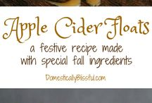 Fall Recipes / It's that time again! The season for warm drinks and fun holiday recipes. Time to indulge a little!