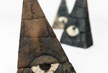 Etsy - Shop ZweiZeitGeister / Unter dem Label Zeitgeister enstandene Keramik - Objekte