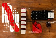 Accesmen--Flamenco Look / Crochet Tie, dotted socks, dotted poquet square, dotted pinflower. Only 100 packs.   Shop here: http://accesmen.com/shop/flamenco/