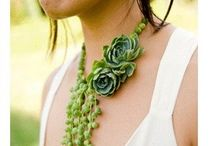 Jewellery/accessories made from flowers