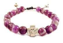 Precious Stone Prayer Bracelets / Our all new precious stone prayer bracelets, made from semi-precious stone beads.  Handmade and blessed by the Orthodox Church.