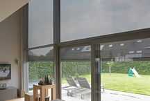 External roller blinds - Fixscreen / This sun protection screen brings a major evolution in the quality, design and installation of large external roller blinds. The Fixscreen® technology ensures that the screen is windproof in any position.