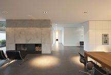 Přiznaný beton - interiér