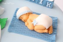 Cakes for baptism/baby shower