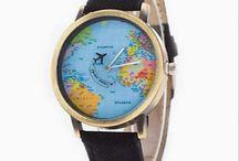 Nejprodávanější hodinky s mapou světa a rotujícím letadýlkem, pouze u nás a dopravou zdarma po ČR