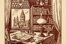 Bookplates / Ex libris, all day, all night / by Mireille Sillander
