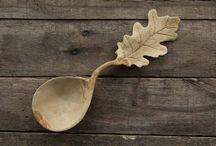 couvert et bols en bois