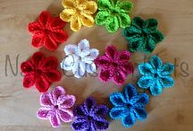 Crochet: flowers and hearts