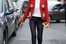 Cigarette pants t (jacket) heels