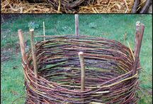 Wicker in the garden