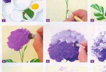 Cómo pintar flores