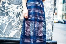 Midi dress and skirt