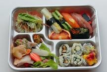 Boite à Bentô Kaiseki / Des photos de bento (repas japonais plus ou moins sophistiqué ayant la particularité d'être facile à emporter pour être mangé autre part que chez soi ou au restaurant).