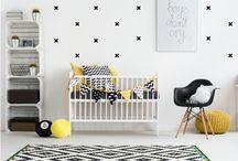 Scandinavische stijl baby- en kinderkamers