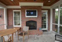 Outdoor Fireplaces / and fire pits!