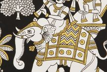 Phad Art / Phad is a style religious scroll painting and folk painting, practiced in Rajasthan state of India.This style of painting is traditionally done on a long piece of cloth or canvas, known as phad. The narratives of the folk deities of Rajasthan, mostly of Pabuji and Devnarayan are depicted on the phads.