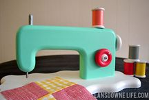 Sewing Machine / toy sewing machine / by Aly Marcotte-Willison