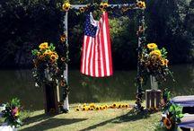 All American Sunflower Wedding / September 13, 2014.  Mr. & Mrs. Wesley Brown / by Annette Wiseman-Vaughan
