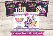 My Little Pony Party: Friendship is Magic / A rainbow of birthday inspiration