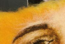 Øye laget med filtenål