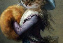 фото regal cats in oil 3