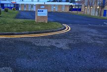 commercial markings / first4playgrounds install commercial markings such as parking bays and yellow lines.