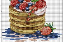Cross stitch: Food