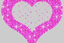 Glitter hart