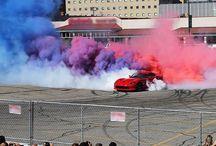 Tug-of-war horsepower battle. #DreamCruise - photo from dodgeofficial
