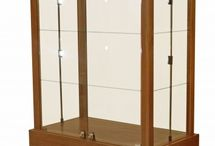 Featured Display Cases / Retail store display cases made of wood and glass for sale.