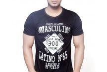 Round Neck Summer Tshirt / Printed Funky Design Men's Round Neck T-shirt. 100% cotton.