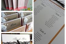 Matching Stationery / All items from place cards, bomboniere tags, table seating chart to thank you cards.
