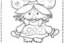 Strawberry Shortcake coloring pages / This page has strawberry shortcake coloring pages for kids for free.