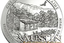 America The Beautiful Coins / America the Beautiful 5 oz. Silver Coins are the largest coins the U.S. Mint has ever issued. Five of these Silver Coins are issued each year depicting different National Parks. This series of Silver Bullion will run for 10 years with a total of 50 coins being produced.