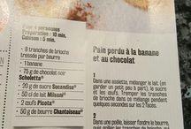 Pain perdu au chocolat et banane