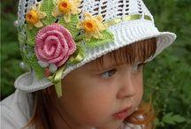 Chapéu crochê meninas