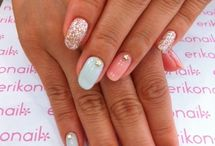 Pastel nails with bling