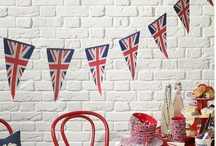 Quintessentially British / British food - sausages & mash, fish n chips, afternoon tea, pies British things - Beetles, Only fools and horses, queen, flag, Bond Projection of British flag/Entertainment mob soldier dancers/british festival theme with food stalls