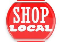 Shop Local Buttons / Funny Buttons - Custom Buttons - Promotional Badges - Shop Local Pins - Wacky Buttons