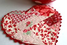 Valentine's Day quilting and fabric ideas