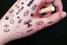 Drawing on skin
